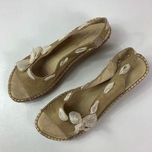 Eric Michael espadrille sandals women's size 40